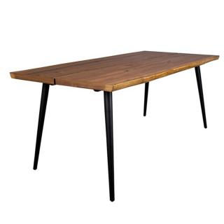 Dutch Bone Table repas ALAGON 160 x 90 cm noyer