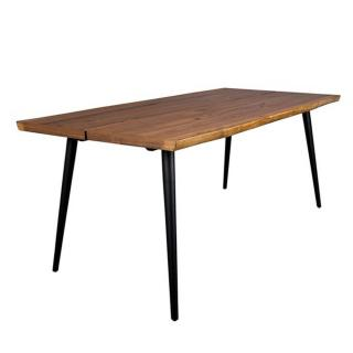 Dutch Bone Table repas ALAGON 180 x 90 cm noyer