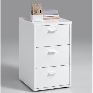 Chevet 3 tiroirs VIENNE coloris blanc
