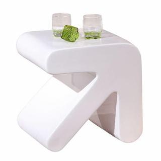 Table d'appoint design ERATI blanche