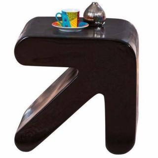 Table d'appoint design ERATI noire