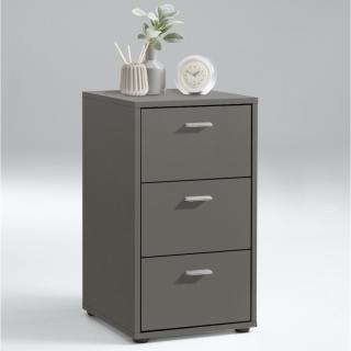 Chevet 3 tiroirs design VIENNE finition gris lava