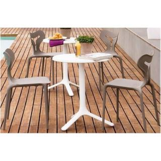 CALLIGARIS Petite table ronde AREA T  60x60 blanche
