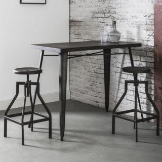 Table de bar 120*60 cm INDUSTRY style industriel en acier