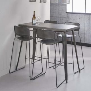 bars tables et chaises table de bar 120 60 cm industry. Black Bedroom Furniture Sets. Home Design Ideas
