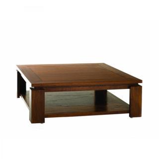 Table basse 90 x 90 cm LAUREN style colonial en mindi