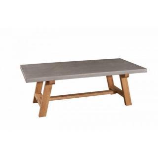 Table basse béton NINO en chêne style industriel