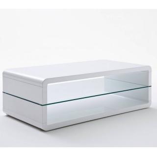 Table basse AGEN contemporaine plateau inférieur en verre