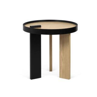 Tema Home Table basse BRUNO 50 PM chêne et métal