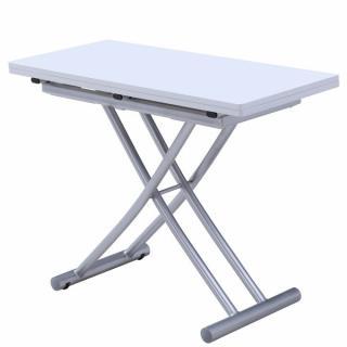 Table relevable extensible COLIBRI ultra compacte laquée blanc 100*45 cm
