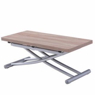 Table relevable extensible COLIBRI ultra compacte mélaminé chêne naturel 90*45 cm