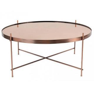ZUIVER Table basse CUPID en cuivre  82.5 x 35 cm