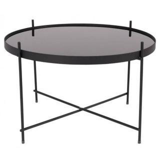 ZUIVER Table basse CUPID  acier noir  63 x 40 cm