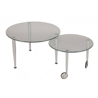 Table basse EIGHT en verre transparent
