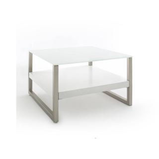 Table basse BARCELONE en verre trempé et acier