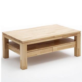 Table basse GORDES 115*70cm en coeur de hêtre massif ciré et huilé