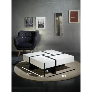 Table basse carr e ronde ou rectangulaire au meilleur - Table basse blanche avec tiroir ...