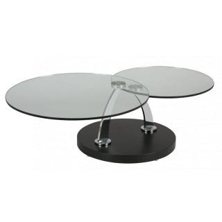 Table à Plateaux Pivotants STEEL En Verre piétement acier