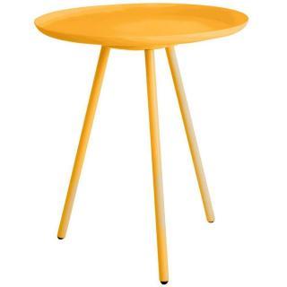 Table basse design SILKEBORG métal orange