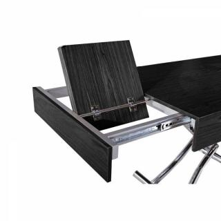 Table basse relevable CUBE céruse noire extensible 12 Couverts