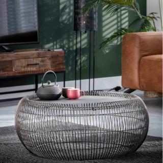 Table basse filaire ENZO diamètre 85 plateau aluminium