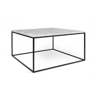Tema Home Table basse rectangulaire GLEAM 75 plateau en marbre blanc structure noire