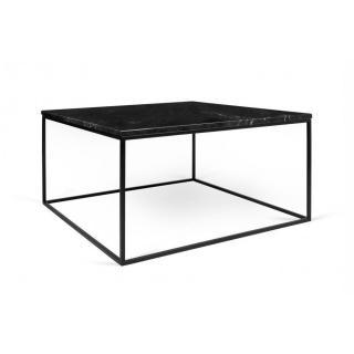 Tema Home Table basse rectangulaire GLEAM 75 plateau en marbre noir structure noire