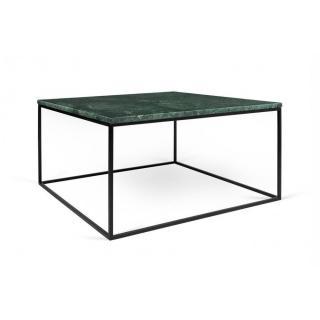 Tema Home Table basse rectangulaire GLEAM 75 plateau en marbre vert structure noire