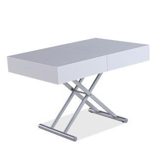 Table relevable extensible HARIE mélaminée chêne blanc