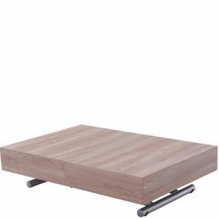 Table relevable extensible HARIE mélaminée chêne naturel