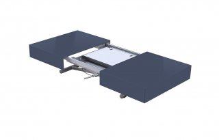 Table relevable extensible HARIE laquée anthracite