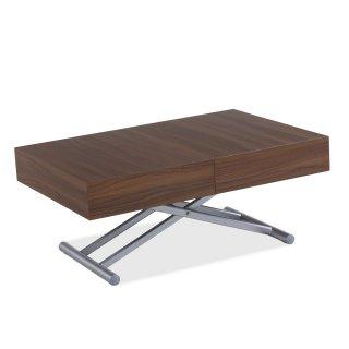 Table relevable extensible HARIE mélaminée noyer