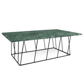 Table basse HELIX 120 en marbre vert