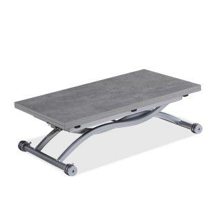 Table relevable extensible HIRONDELLE compacte finition béton 100*57 cm