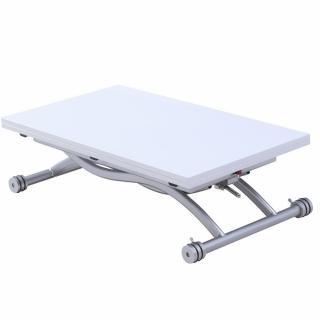 Table relevable extensible HIRONDELLE compacte laquée blanc 100*57 cm
