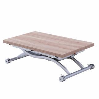 Table relevable extensible HIRONDELLE compacte chêne naturel 100*57 cm