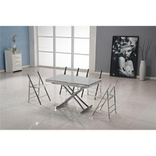 Canap s convertibles ouverture rapido table basse jump extensible relevable grise inside75 - Table basse relevable grise ...