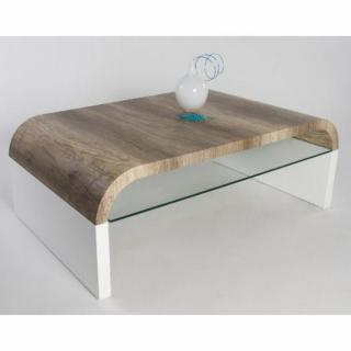 Table basse design KANSAS blanche