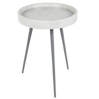 ZUIVER Table basse KARRARA en marbre blanc  33 x 45 cm