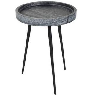 ZUIVER Table basse KARRARA en marbre gris  33 x 45 cm