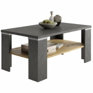 Table basse BERGERAC coloris matera et artisan chene 1 plateau fixe