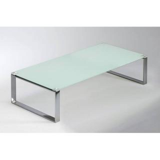 Table basse MIAMI en verre blanc