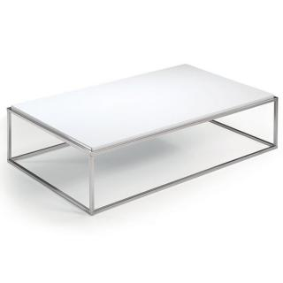 Table basse rectangle MIMI blanc mat