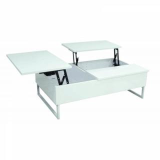 table basse carr e ronde ou rectangulaire au meilleur prix modula blanche table basse. Black Bedroom Furniture Sets. Home Design Ideas