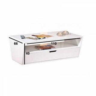 Table basse carr e ronde ou rectangulaire au meilleur prix table basse neom - Table basse blanche tiroir ...