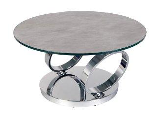 Table OLYMPE  à plateaux pivotants en verre et céramique CIMENT