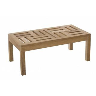 Table basse de jardin rectangulaire 100*50 cm FUN en teck