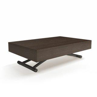Table basse relevable CUBE wengé extensible 10 Couverts piètement gris graphite mat