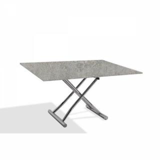 Table basse compacte HIGH and LOW relevable extensible finition béton