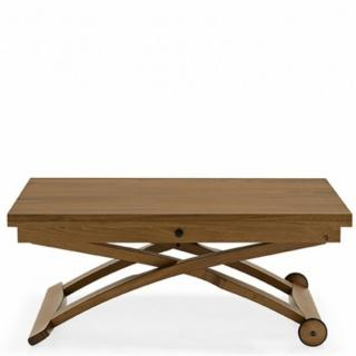 Table basse relevable extensible italienne MASCOTTE  noyer